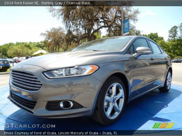 Sterling Gray 2014 Ford Fusion Se Charcoal Black Interior Vehicle Archive