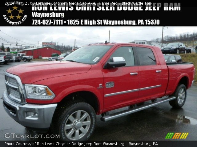 2014 ram 2500 laramie longhorn mega cab 4x4 in flame red - Dodge Ram 2500 2014 Red