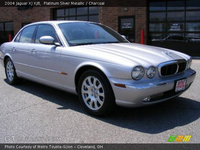 platinum silver metallic 2004 jaguar xj xj8 charcoal. Black Bedroom Furniture Sets. Home Design Ideas