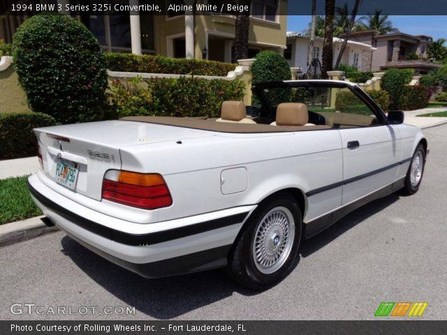 1994 BMW 3 Series 325i Convertible in Alpine White