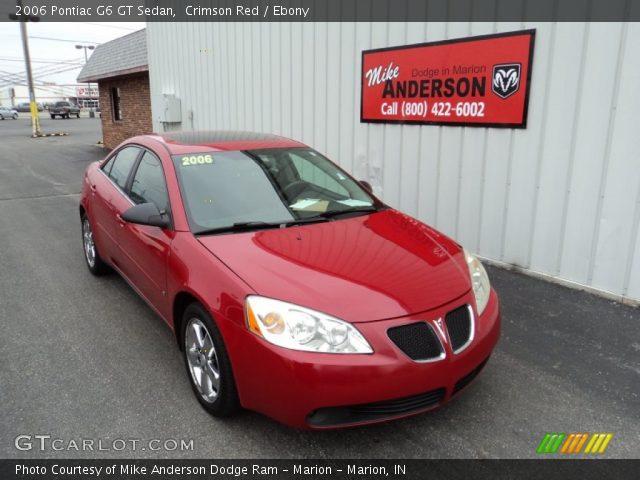 crimson red 2006 pontiac g6 gt sedan ebony interior. Black Bedroom Furniture Sets. Home Design Ideas