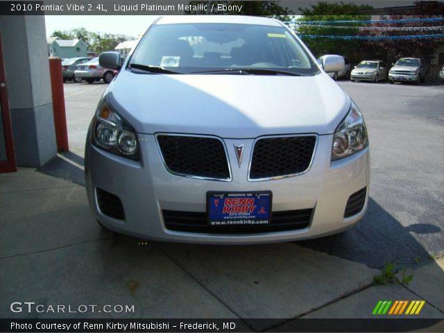2010 Pontiac Vibe 2.4L in Liquid Platinum Metallic
