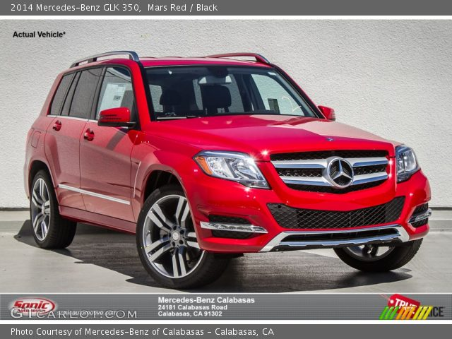 Mars Red 2014 Mercedes Benz Glk 350 Black Interior