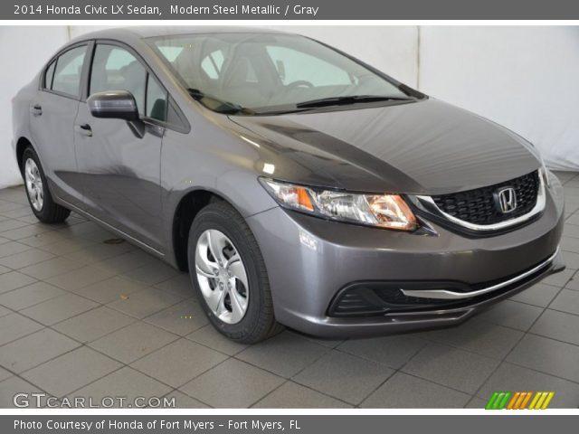 Modern steel metallic 2014 honda civic lx sedan gray for Honda civic modern steel