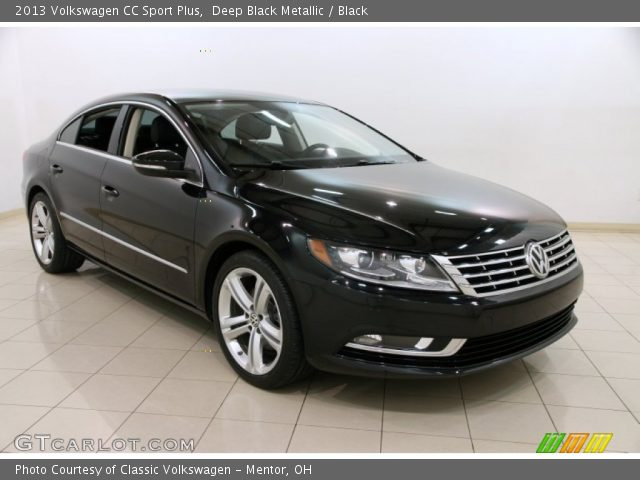 deep black metallic 2013 volkswagen cc sport plus black interior vehicle. Black Bedroom Furniture Sets. Home Design Ideas