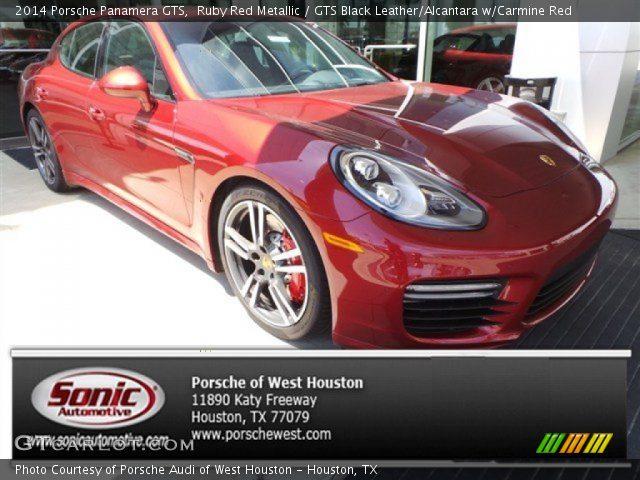 2014 Porsche Panamera GTS in Ruby Red Metallic