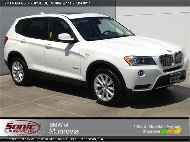 Alpine White 2014 Bmw X3 Xdrive28i Chestnut Interior Vehicle Archive 92590805