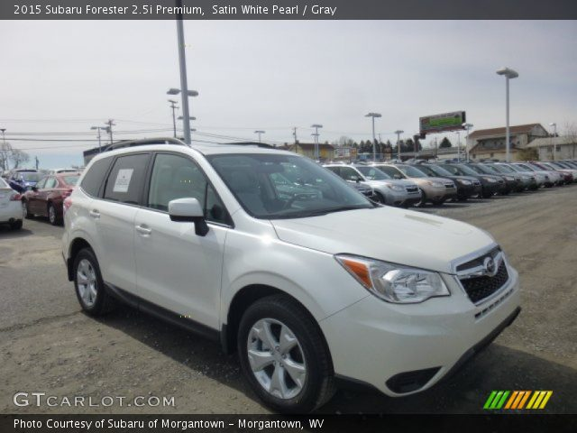 satin white pearl 2015 subaru forester premium gray interior vehicle. Black Bedroom Furniture Sets. Home Design Ideas