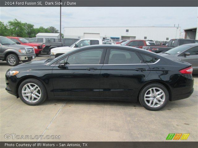 Dark side 2014 ford fusion se dune interior vehicle archive 92713153 for 2014 ford fusion exterior dimensions