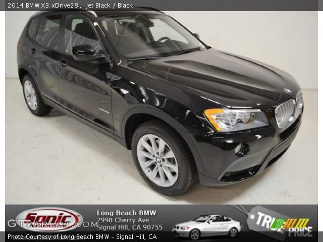 Jet Black 2014 Bmw X3 Xdrive28i Black Interior Vehicle Archive 92747210