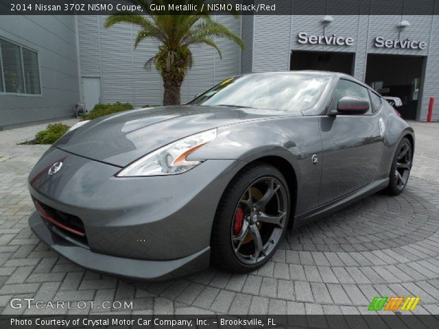 Gun Metallic 2014 Nissan 370z Nismo Coupe Nismo Blackred