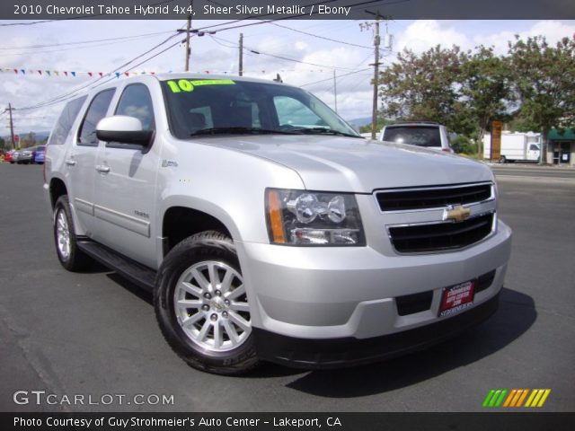 Sheer Silver Metallic 2010 Chevrolet Tahoe Hybrid 4x4