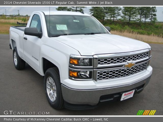 summit white 2014 chevrolet silverado 1500 lt regular cab jet black interior. Black Bedroom Furniture Sets. Home Design Ideas