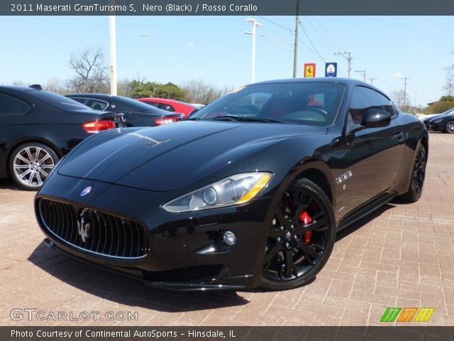 Nero Black 2011 Maserati Granturismo S Rosso Corallo Interior Vehicle