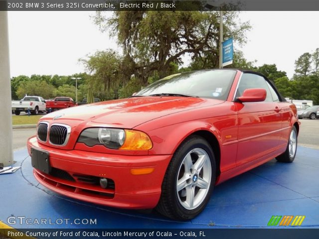 2002 BMW 3 Series 325i Convertible in Electric Red