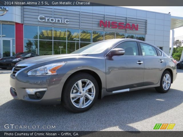 gun metallic 2014 nissan altima 2 5 sl charcoal interior vehicle archive. Black Bedroom Furniture Sets. Home Design Ideas