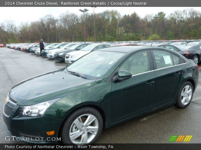 2014 Chevrolet Cruze Diesel in Rainforest Green Metallic