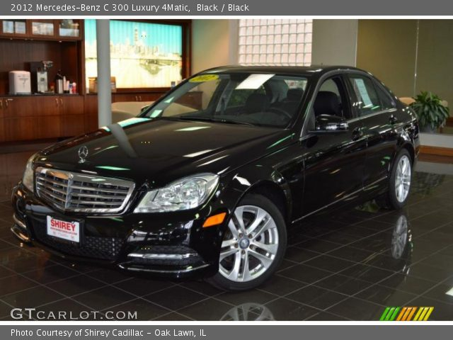 black 2012 mercedes benz c 300 luxury 4matic black interior vehicle archive. Black Bedroom Furniture Sets. Home Design Ideas