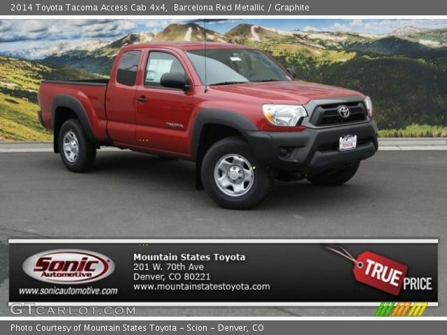 barcelona red metallic 2014 toyota tacoma access cab 4x4 graphite interior. Black Bedroom Furniture Sets. Home Design Ideas