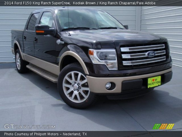 kodiak brown 2014 ford f150 king ranch supercrew king ranch chaparral pale adobe interior. Black Bedroom Furniture Sets. Home Design Ideas