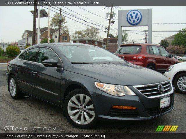 island gray metallic 2011 volkswagen cc sport black interior vehicle. Black Bedroom Furniture Sets. Home Design Ideas