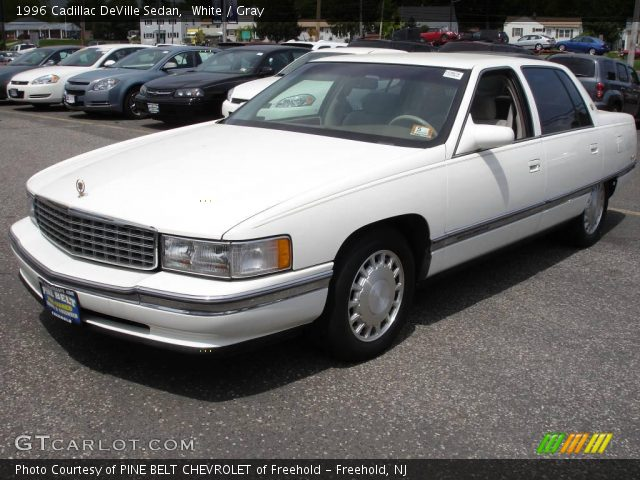 white 1996 cadillac deville sedan gray interior vehicle. Cars Review. Best American Auto & Cars Review