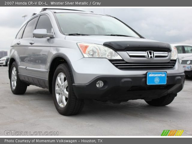 whistler silver metallic 2007 honda cr v ex l gray interior vehicle archive. Black Bedroom Furniture Sets. Home Design Ideas