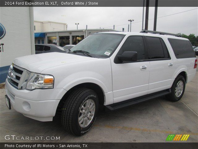 oxford white 2014 ford expedition el xlt stone. Black Bedroom Furniture Sets. Home Design Ideas