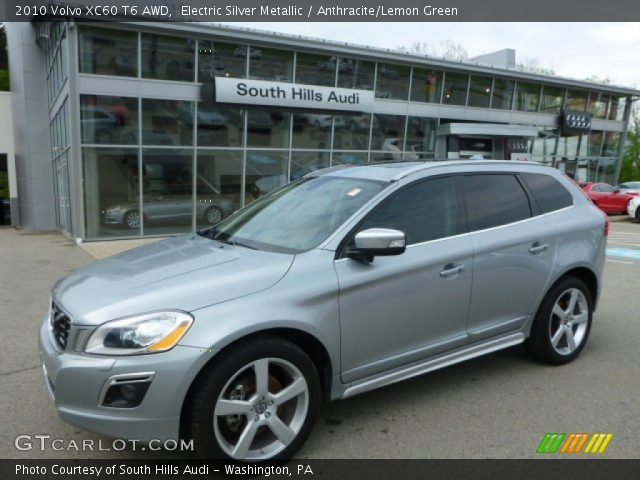 electric silver metallic 2010 volvo xc60 t6 awd. Black Bedroom Furniture Sets. Home Design Ideas