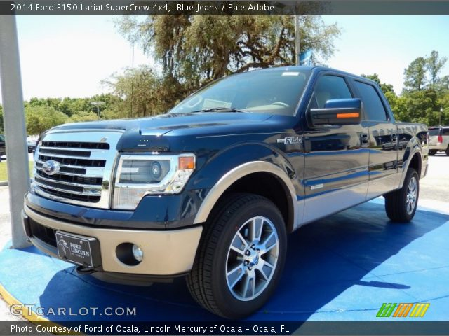 blue jeans 2014 ford f150 lariat supercrew 4x4 pale adobe interior vehicle. Black Bedroom Furniture Sets. Home Design Ideas