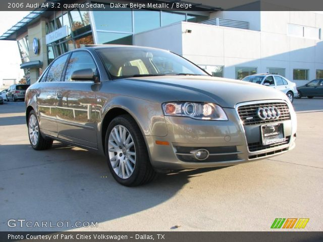 dakar beige metallic 2006 audi a4 3 2 quattro sedan beige interior vehicle. Black Bedroom Furniture Sets. Home Design Ideas