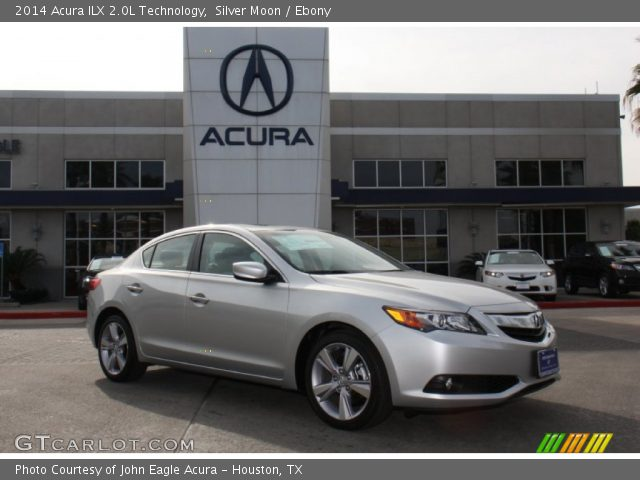 silver moon 2014 acura ilx 2 0l technology ebony interior vehicle archive. Black Bedroom Furniture Sets. Home Design Ideas