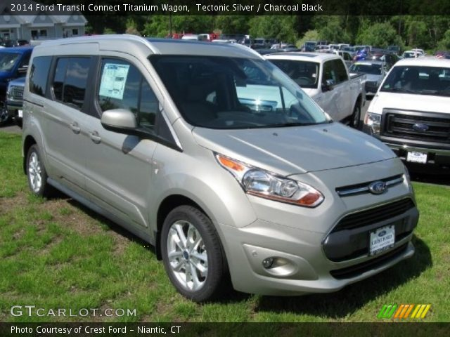 Tectonic Silver 2014 Ford Transit Connect Titanium Wagon Charcoal Black Interior Gtcarlot