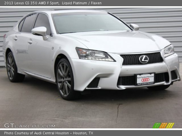 liquid platinum 2013 lexus gs 350 awd f sport flaxen interior vehicle. Black Bedroom Furniture Sets. Home Design Ideas