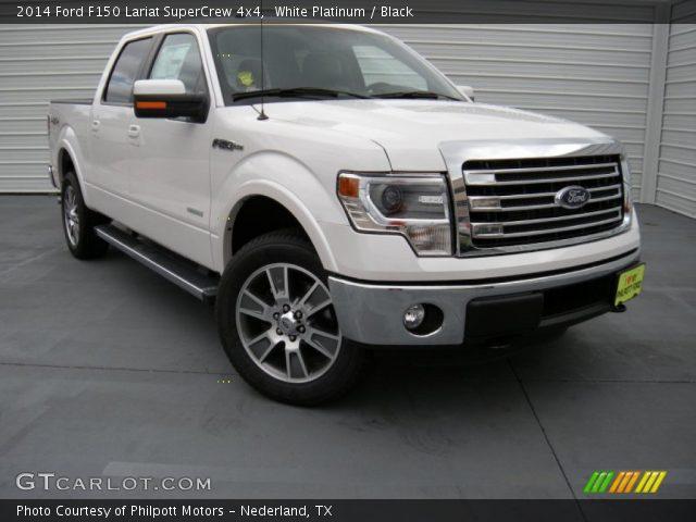 white platinum 2014 ford f150 lariat supercrew 4x4 black interior vehicle. Black Bedroom Furniture Sets. Home Design Ideas