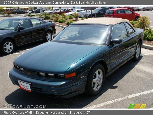 1995 Oldsmobile Cutlass Supreme Convertible in Dark Teal Metallic