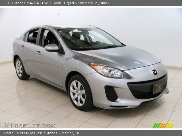 liquid silver metallic 2013 mazda mazda3 i sv 4 door. Black Bedroom Furniture Sets. Home Design Ideas