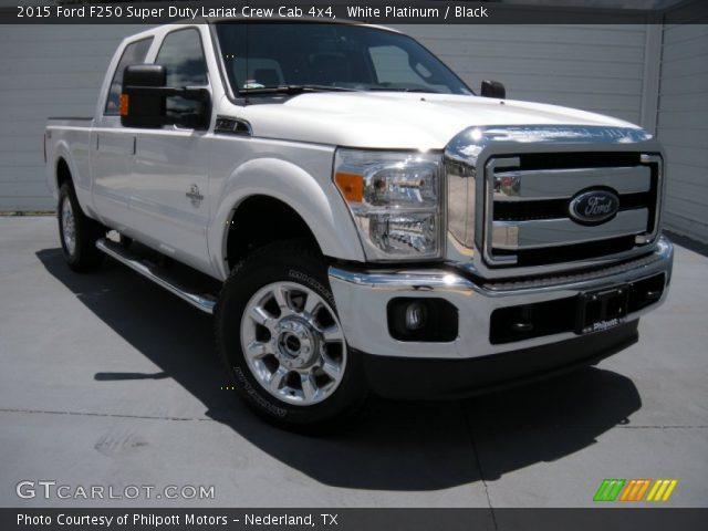 white platinum 2015 ford f250 super duty lariat crew cab 4x4 black interior. Black Bedroom Furniture Sets. Home Design Ideas