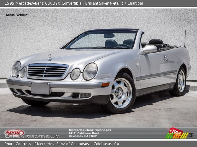 brilliant silver metallic 1999 mercedes benz clk 320 convertible charcoal interior. Black Bedroom Furniture Sets. Home Design Ideas