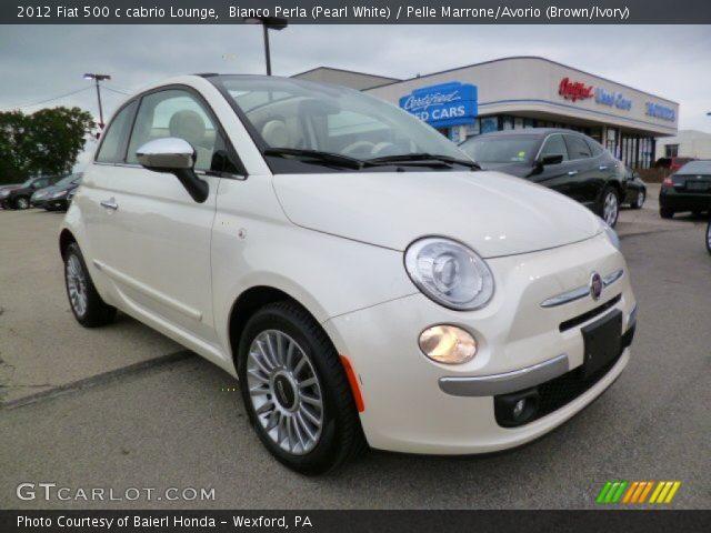 2012 Fiat 500 c cabrio Lounge in Bianco Perla (Pearl White)