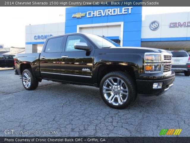 black 2014 chevrolet silverado 1500 high country crew cab 4x4 high country saddle interior. Black Bedroom Furniture Sets. Home Design Ideas