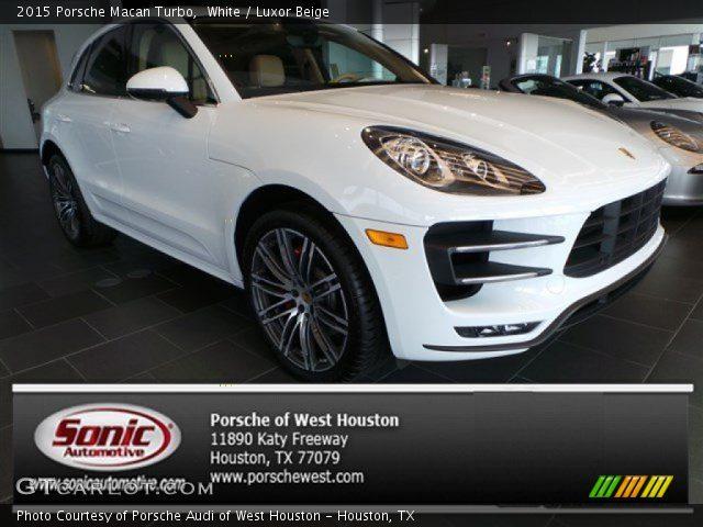 White 2015 porsche macan turbo luxor beige interior - Porsche macan white with red interior ...
