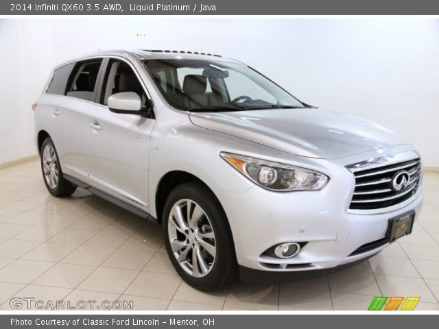 liquid platinum 2014 infiniti qx60 3 5 awd java. Black Bedroom Furniture Sets. Home Design Ideas