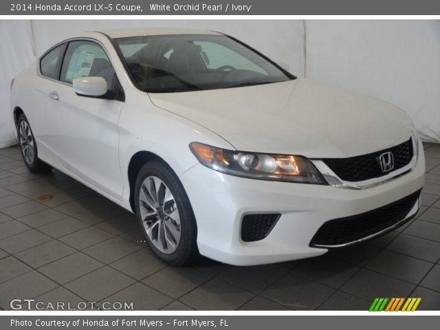 White orchid pearl 2014 honda accord lx s coupe ivory for 2014 honda accord white