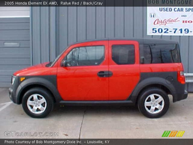 rallye red 2005 honda element ex awd black gray. Black Bedroom Furniture Sets. Home Design Ideas