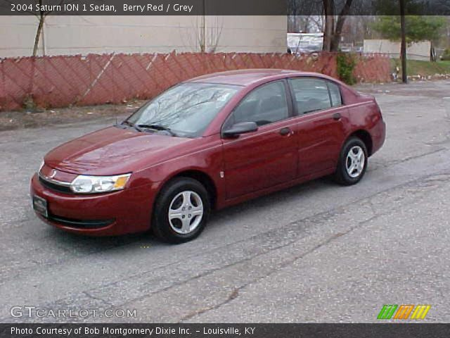 Berry Red 2004 Saturn Ion 1 Sedan Grey Interior Gtcarlot