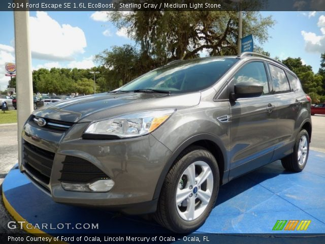 sterling gray 2014 ford escape se 1 6l ecoboost medium light stone interior. Black Bedroom Furniture Sets. Home Design Ideas