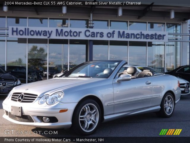2004 Mercedes-Benz CLK 55 AMG Cabriolet in Brilliant Silver Metallic