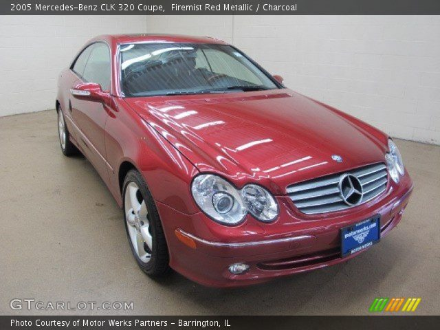 2005 Mercedes-Benz CLK 320 Coupe in Firemist Red Metallic