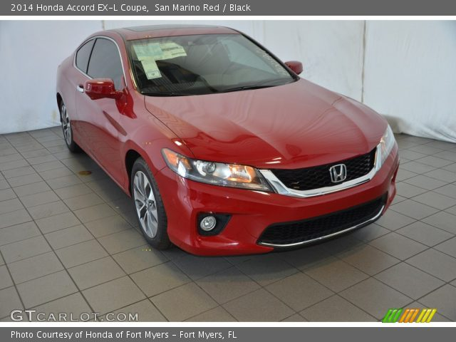 san marino red 2014 honda accord exl coupe black